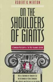 Cover of: On the shoulders of giants: a Shandean postscript