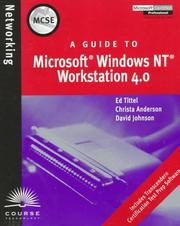 Cover of: MCSE Guide to Microsoft Windows NT Workstation 4.0 | Ed Tittel