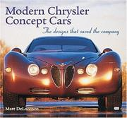 Cover of: Modern Chrysler Concept Cars | Matt DeLorenzo