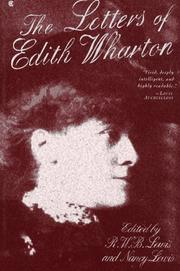 Cover of: The letters of Edith Wharton