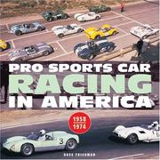 Cover of: Pro Sports Car Racing in America (Motorbooks Classic) | Dave Friedman