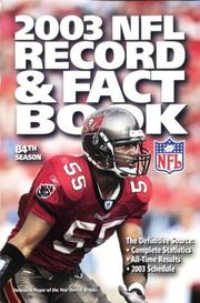 Cover of: The Official 2003 NFL Record & Fact Book