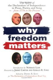 Cover of: Why Freedom Matters