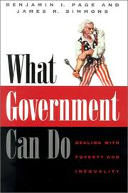 Cover of: What Government Can Do | Benjamin I. Page, James R. Simmons