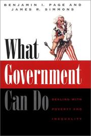 Cover of: What government can do