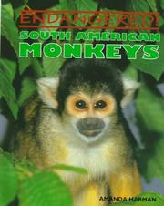Cover of: South American monkeys