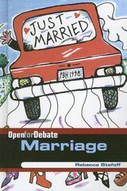 Cover of: Marriage / by Rebecca Stefoff. | Rebecca Stefoff