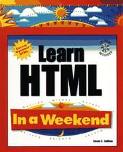 Cover of: Learn HTML in a weekend