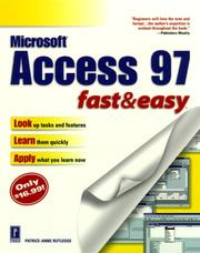 Cover of: Access 97: fast & easy