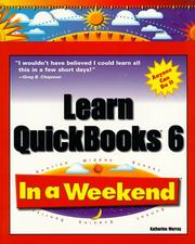 Cover of: Learn QuickBooks 6 in a weekend
