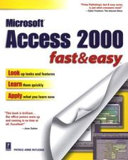 Cover of: Access 2000: fast & easy