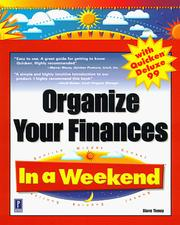Cover of: Organize your finances with Quicken Deluxe 99 in a weekend