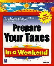 Cover of: Prepare your taxes with TurboTax deluxe in a weekend