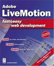 Cover of: Adobe LiveMotion Fast & Easy Web Development (Fast & Easy)