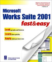 Cover of: Microsoft Works Suite 2001 Fast and Easy (Fast & Easy)