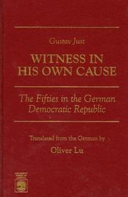 Cover of: Witness in his own cause | Gustav Just
