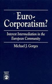 Cover of: Euro-Corporatism? | Michael J. Gorges