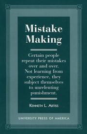 Cover of: Mistake making