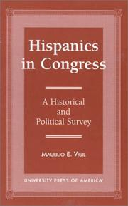 Cover of: Hispanics in Congress