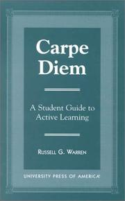 Cover of: Carpe diem by Russell G. Warren