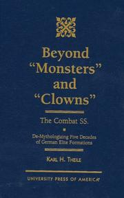 Cover of: Beyond Monsters and Clowns--The Combat SS