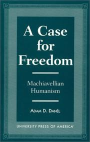 Cover of: A case for freedom