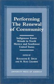 Cover of: Performing the renewal of community |