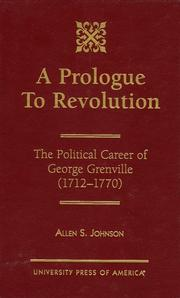 A prologue to revolution by Allen S. Johnson