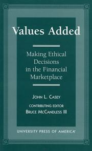 Cover of: Values added | John L. Casey