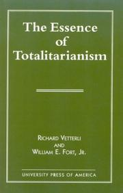 Cover of: The essence of totalitarianism