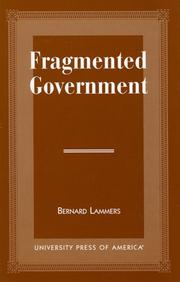 Cover of: Fragmented government