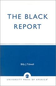 Cover of: The Black Report | Billy Tidwell