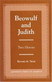 Cover of: Beowulf and Judith |