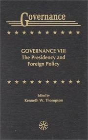 Cover of: Governance VIII