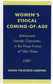 Women's ethical coming-of-age by Agnes Toloczko Cardoni