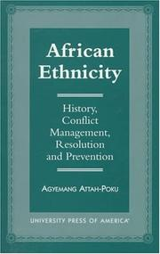 Cover of: African ethnicity