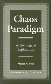 Cover of: Chaos paradigm | Morris A. Inch
