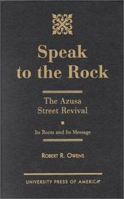 Cover of: Speak to the rock | Robert R. Owens