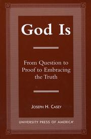 Cover of: God is