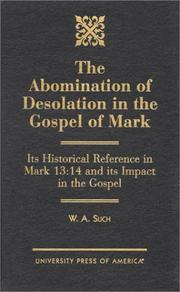 Cover of: The abomination of desolation in the Gospel of Mark