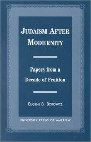 Cover of: Judaism After Modernity | Eugene B. Borowitz