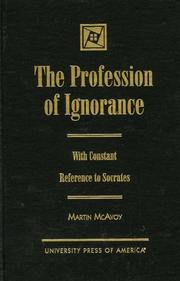 Cover of: The profession of ignorance