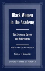 Cover of: Black women in the academy