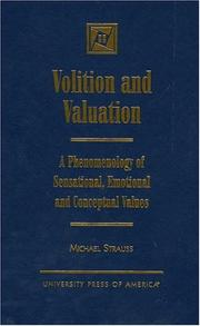 Cover of: Volition and valuation