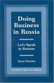 Doing business in Russia by G. G. Timofeeva