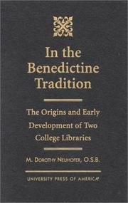 Cover of: In the Benedictine tradition