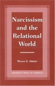 Cover of: Narcissism and the Relational World