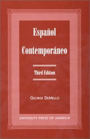 Cover of: Español Contempor¿neo | George DeMello