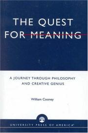 Cover of: The quest for meaning