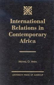 Cover of: International relations in contemporary Africa